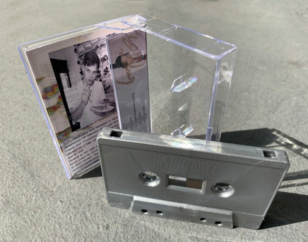 Metallic Silver Cassette 100% Electronica by George Clanton
