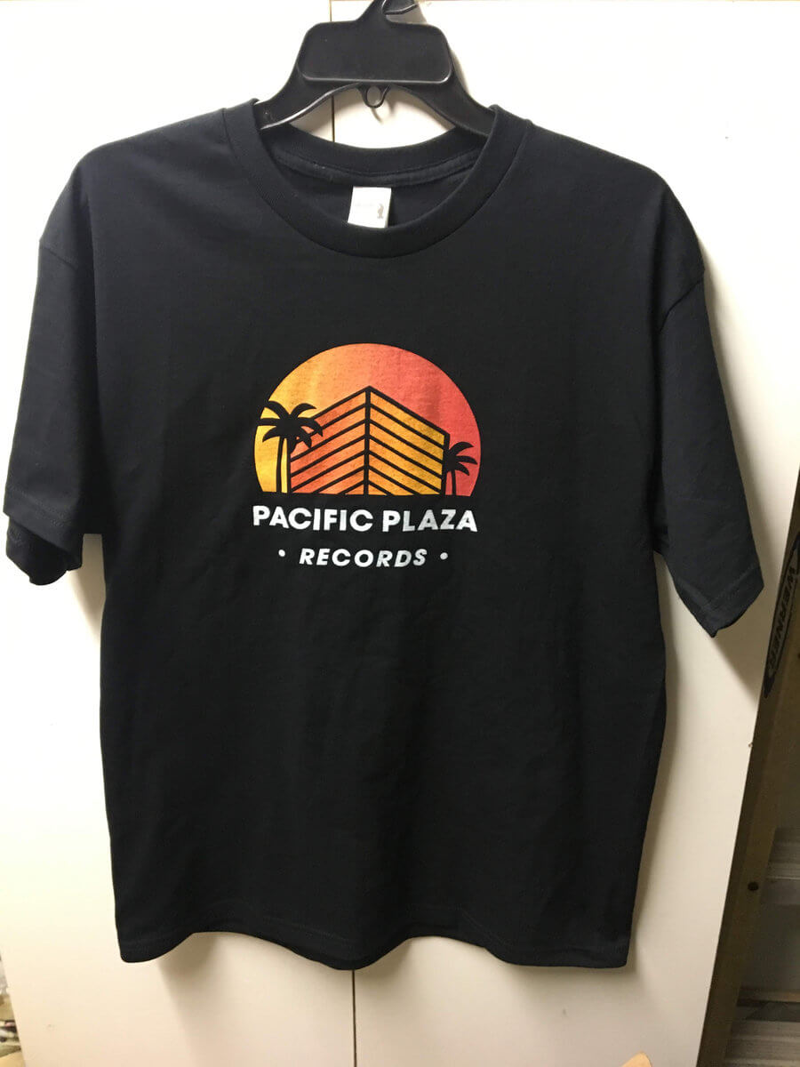 Fall Sampler 2019 + T-Shirt by Pacific Plaza Records (Black Logo Shirt w/ Custom Gradient) 1