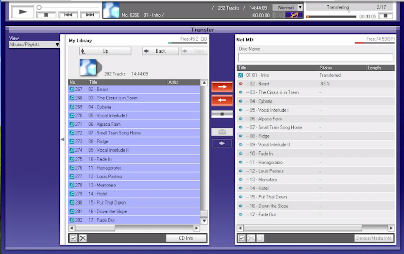 Tutorial: How to transfer MP3 to MiniDisc 15