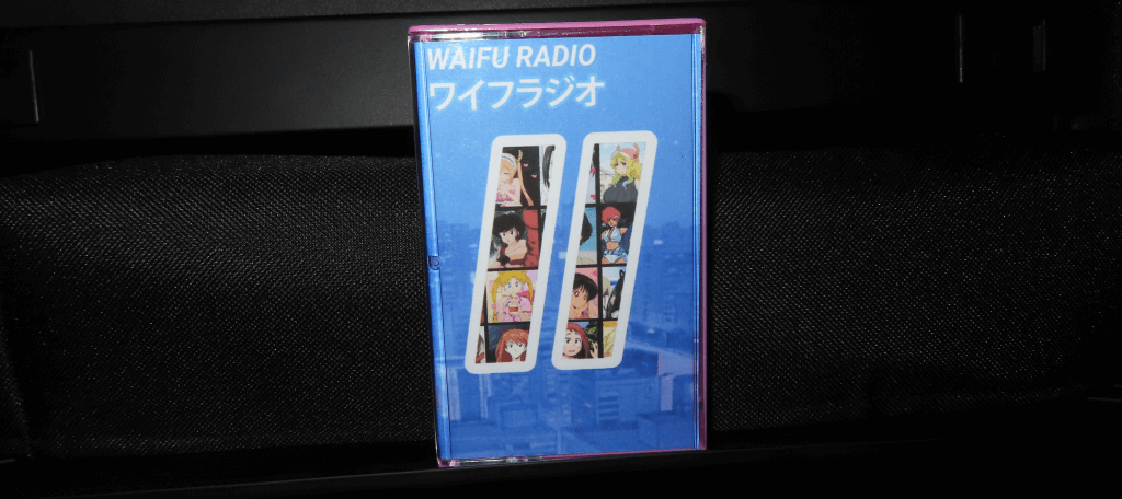 Waifu Radio 2 Cassette by FujiFire - Viewed from the front